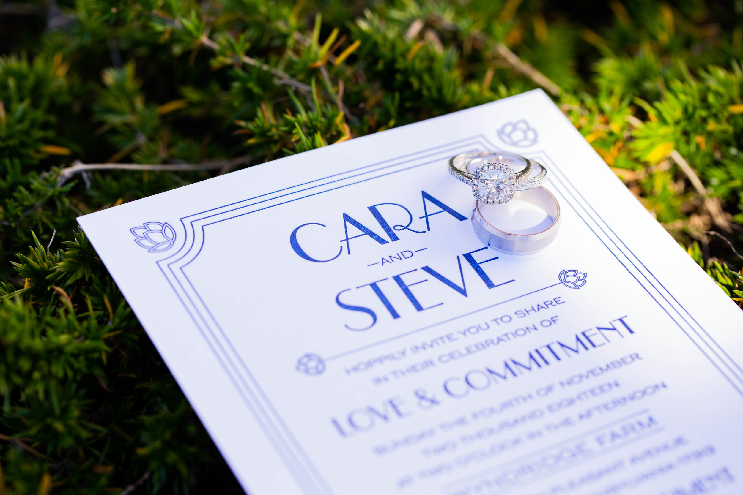 Cara & Steve Wedding Program