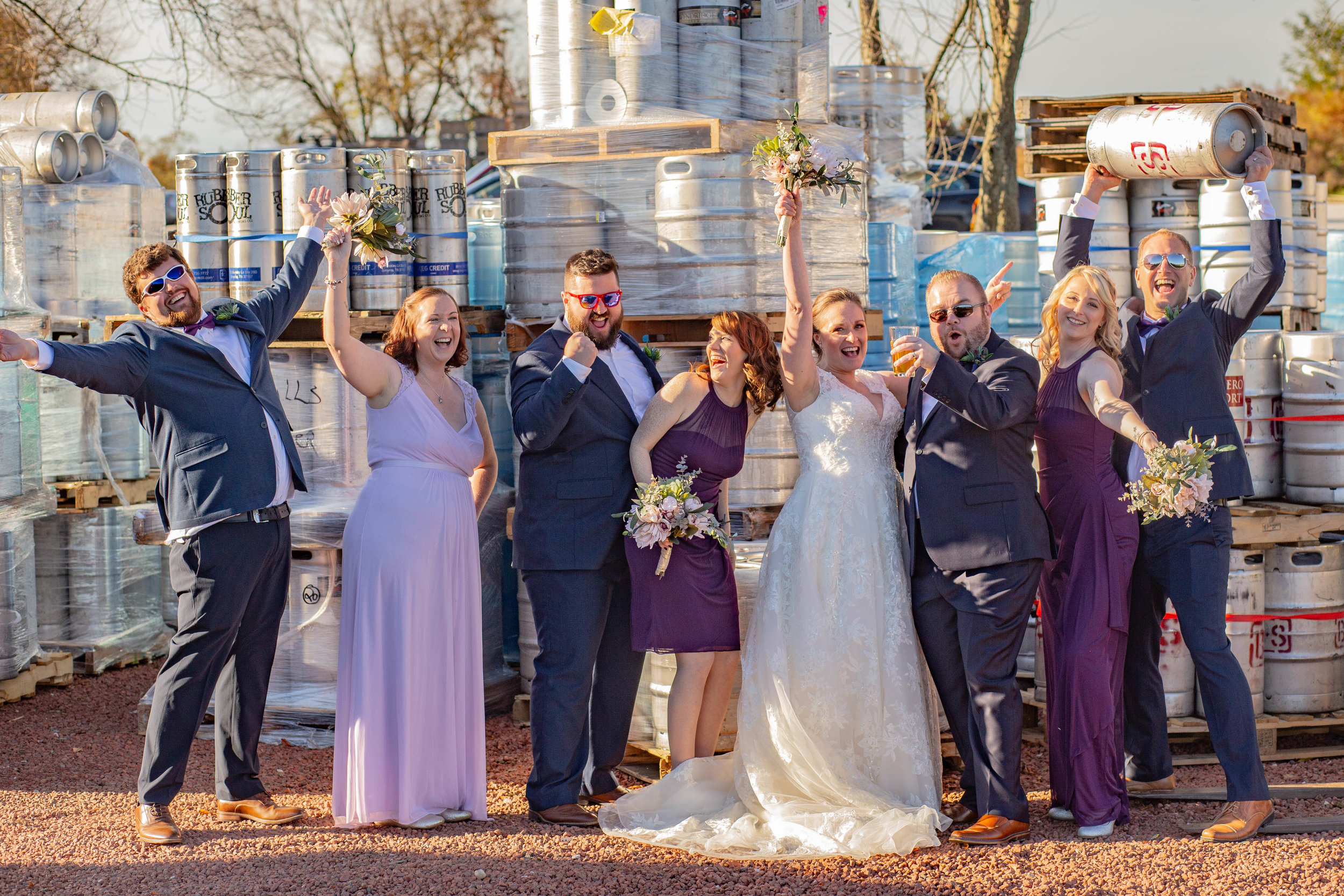 Cara & Steve wedding party