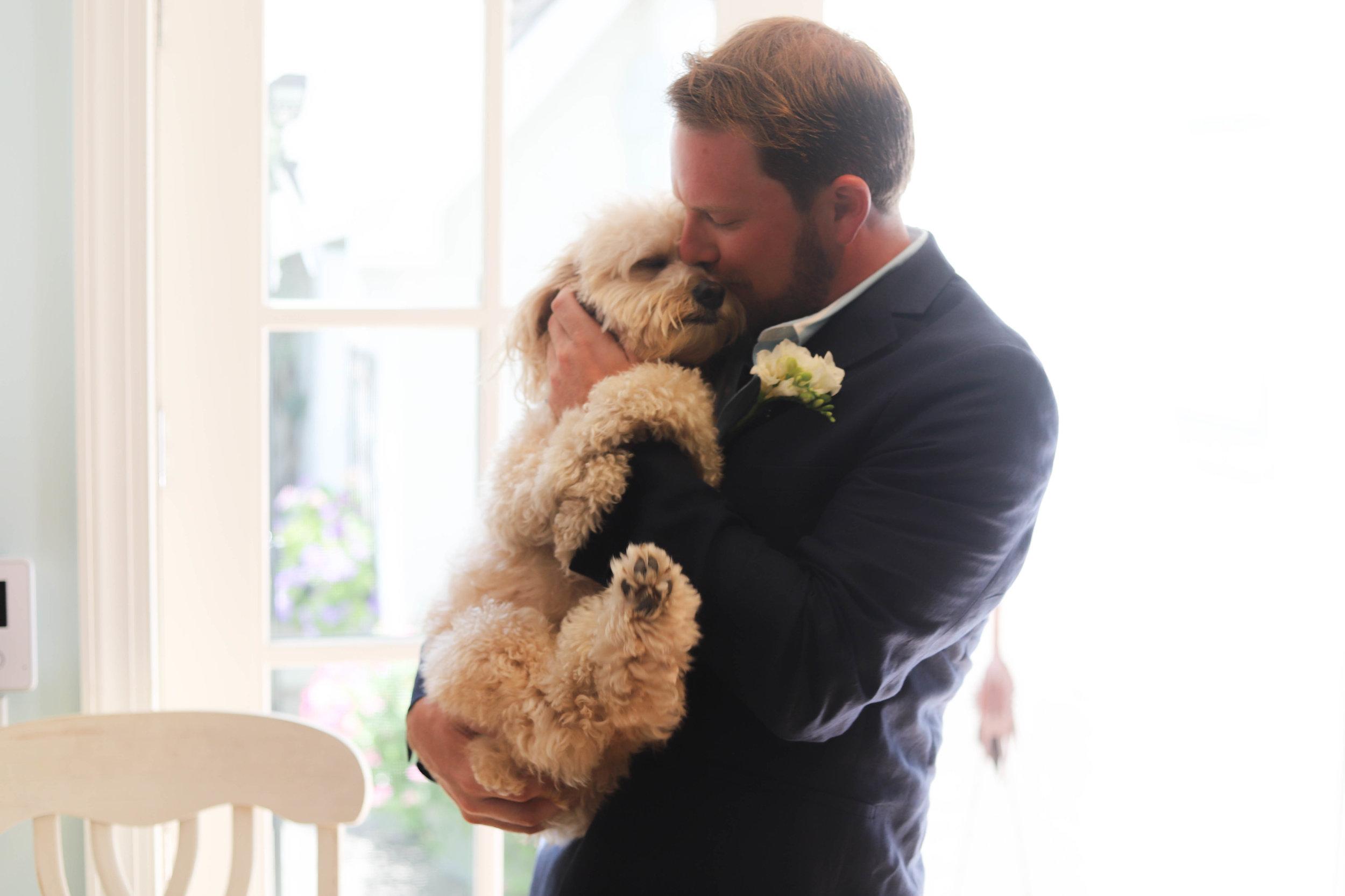 Groom and his dog