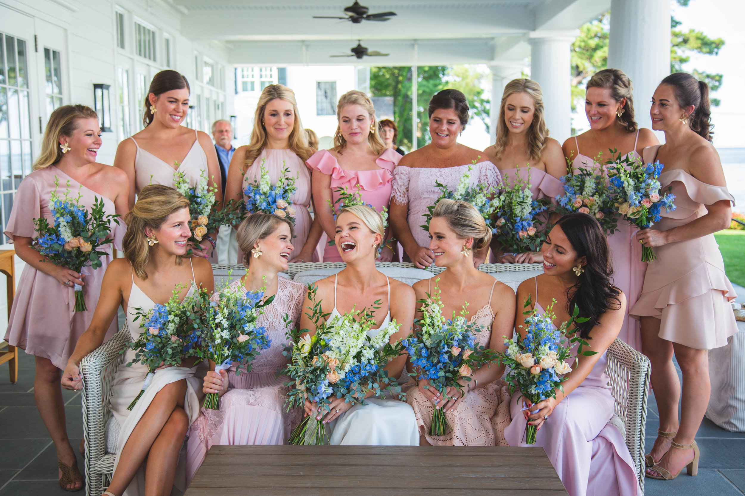 Bethy with bridesmaids