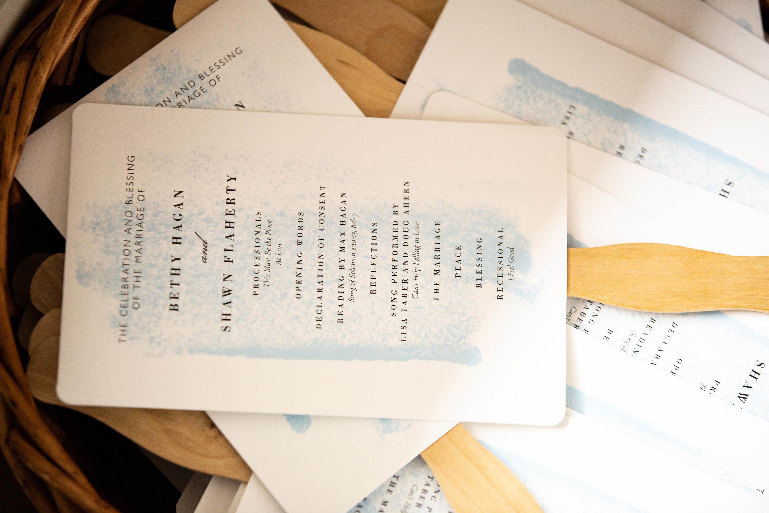 Bethy & Shawn wedding program