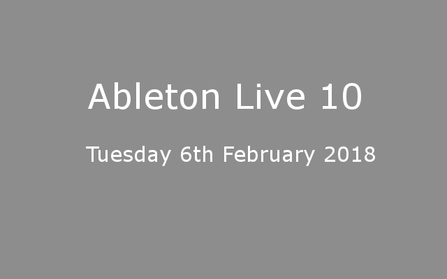 Ableton Live 10 Release Date