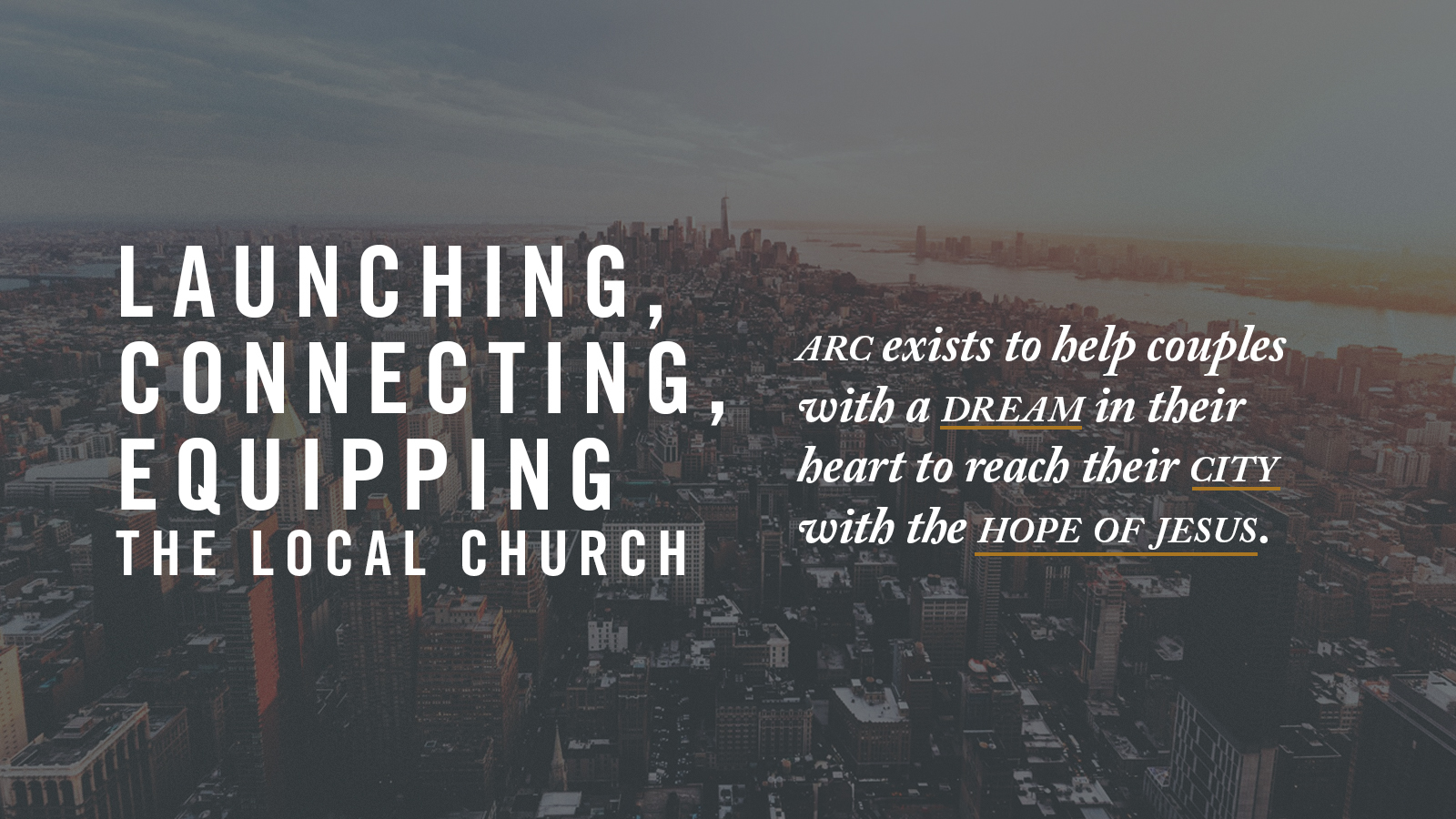 """National Missions - Every year, Destiny Church partners with the Association of Related Churches (""""ARC"""") to ensure that the life change that is happening at our church happens throughout the nation. ARC works together with church planters and church leaders to provide support, guidance, and resources to launch and grow life-giving churches."""