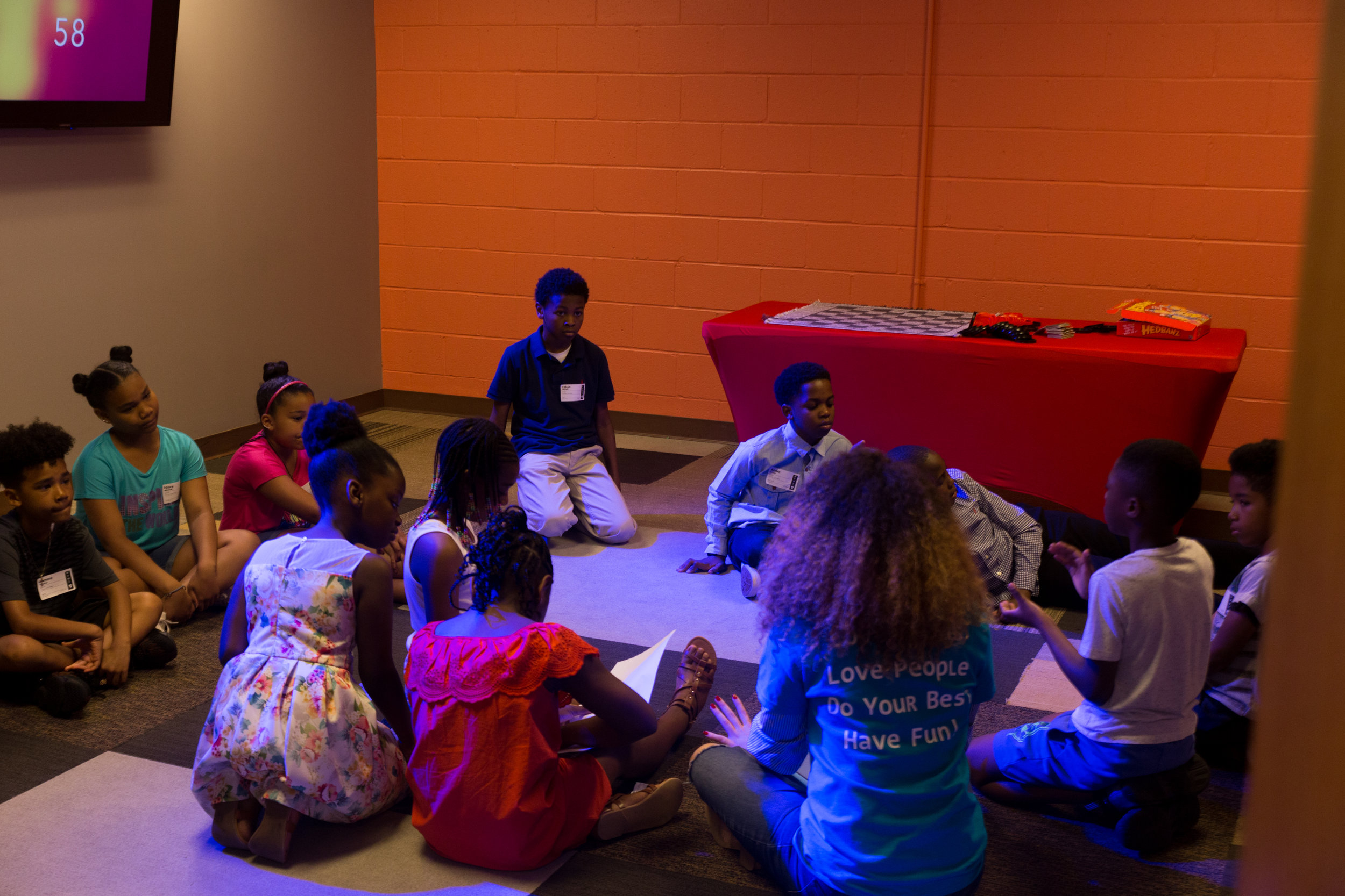 MOTION (8–11 YEARS OLD) - In Motion, children will begin to identify the presence of God. They are challenged to grow in their relationship with God through a detailed learning curriculum, energized worship, and significant small group discussions.