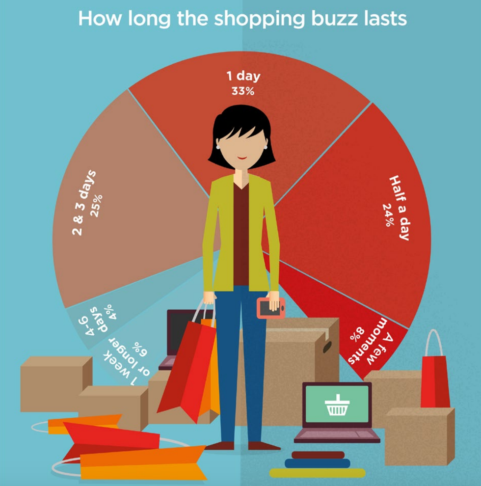 Picture courtesy of EcoWatch: shopping that satisfies a buzz does more damage than good to the environment.