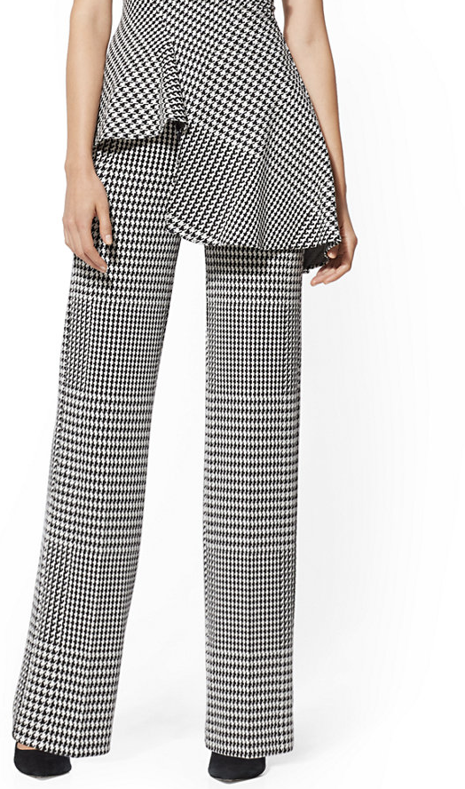 NY & Co Houndstooth Wide Leg Ponte [ $29.00]