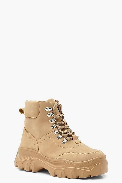 BooHoo lace Up Biker Boots [ $28 ]