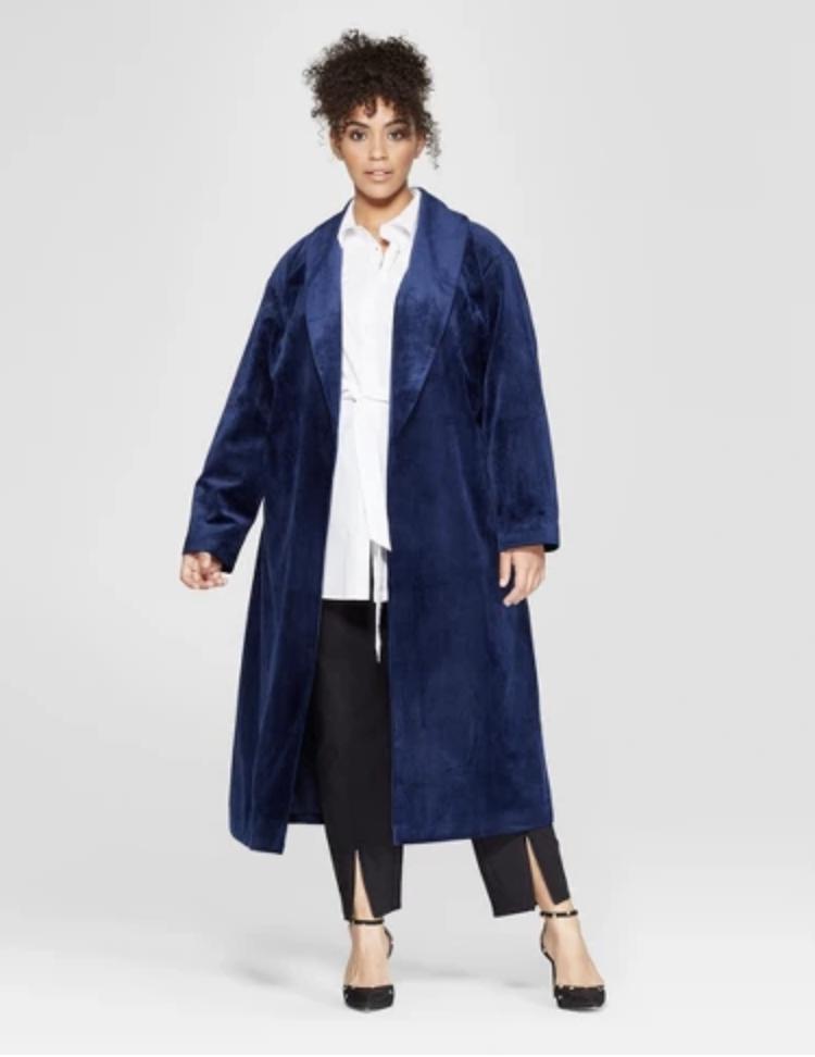 Target Women's Plus Velvet Overcoat [ $65 ]