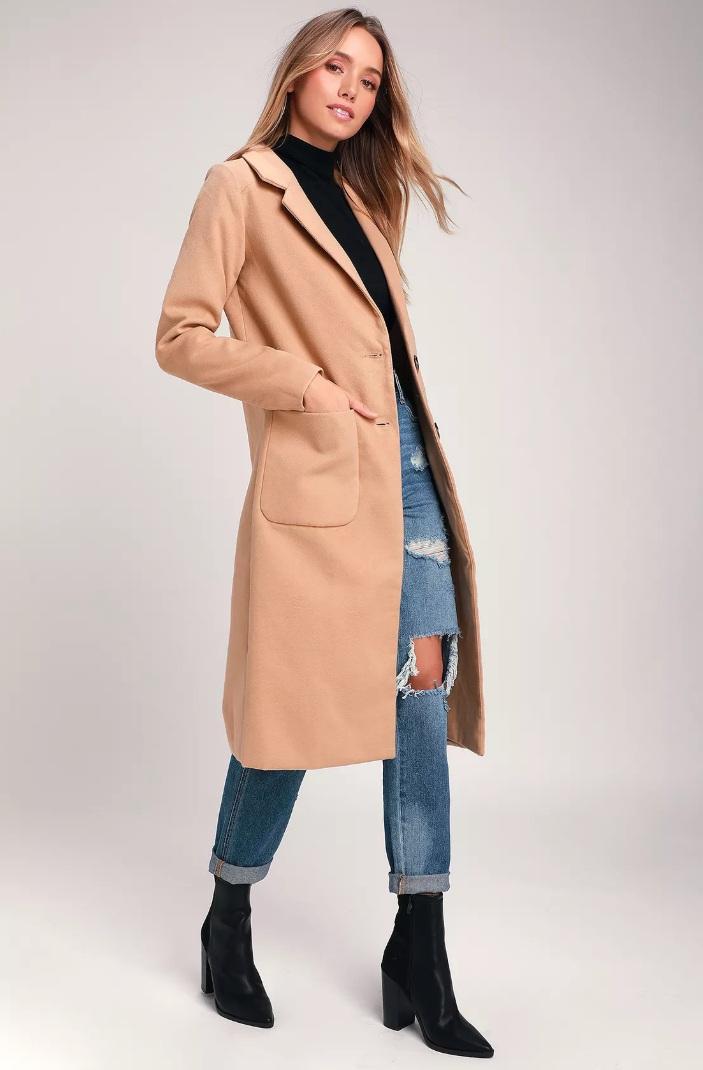 Lulu's Style Squad Tan Coat [ $85 ]