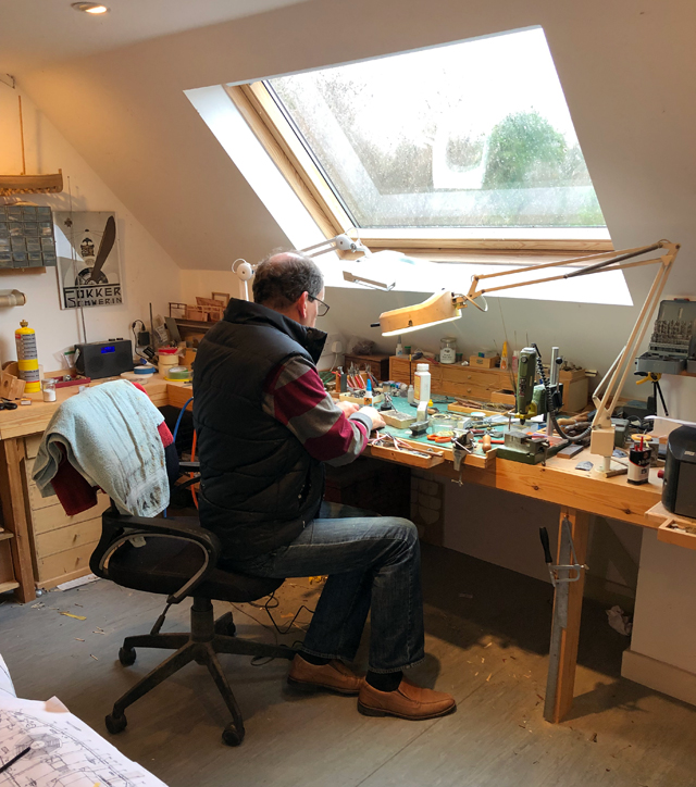 My Dad in his workshop