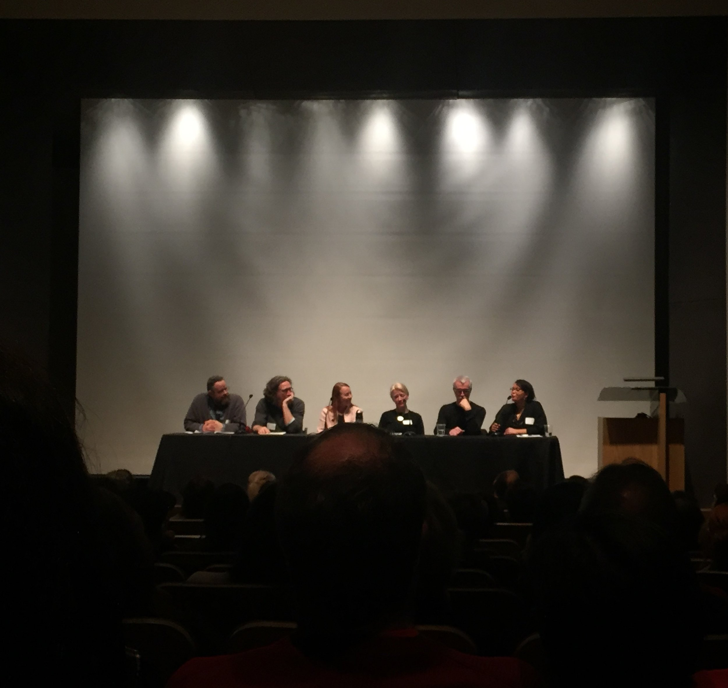 Panelists from Left to Right: Joey Veltkamp, Tim Detweiler, Asta Roseway, Christiane Pein, Greg Bell, Leilani Lewis