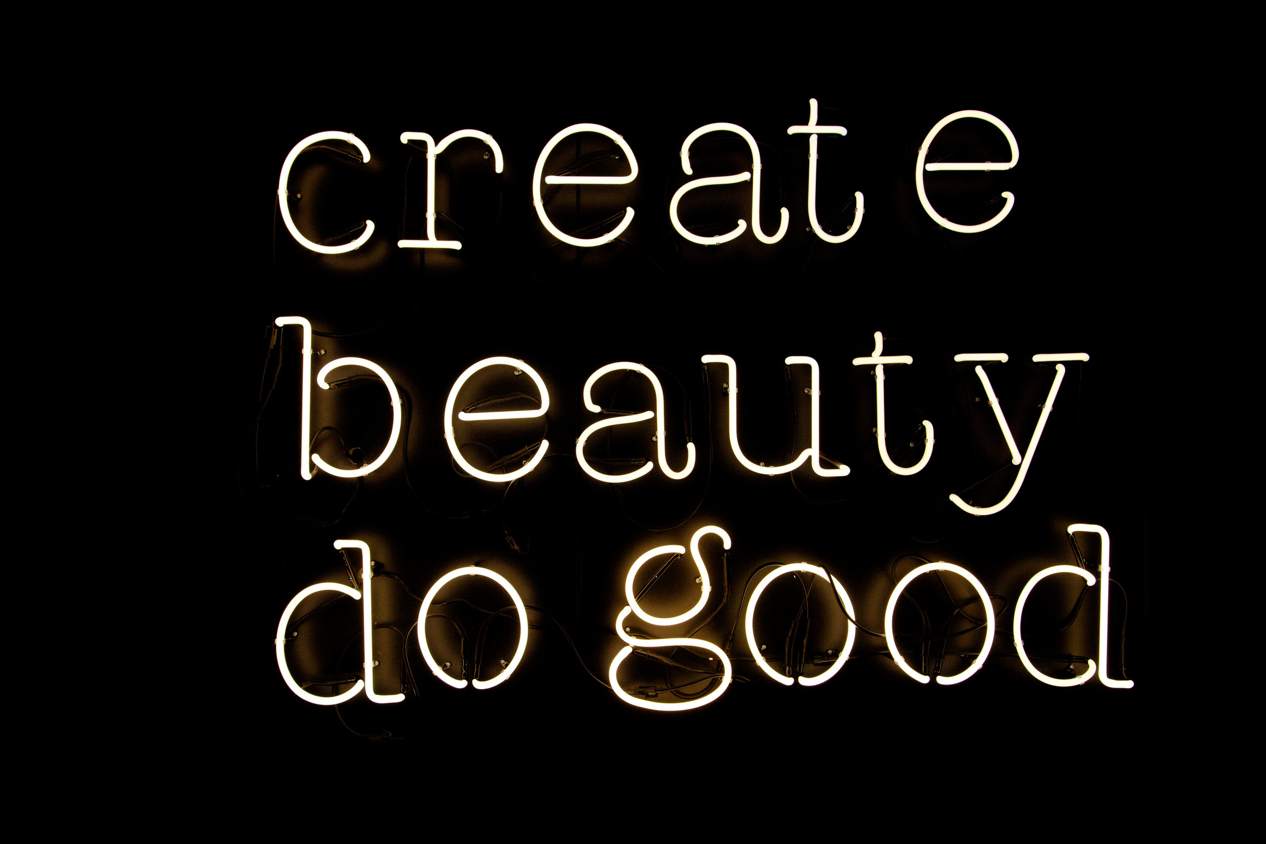 Good Hotel London - Create Beauty do Good Neon.jpg