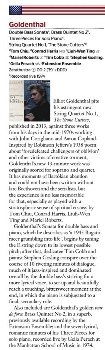 Gramophone review of String Quartet No. 1