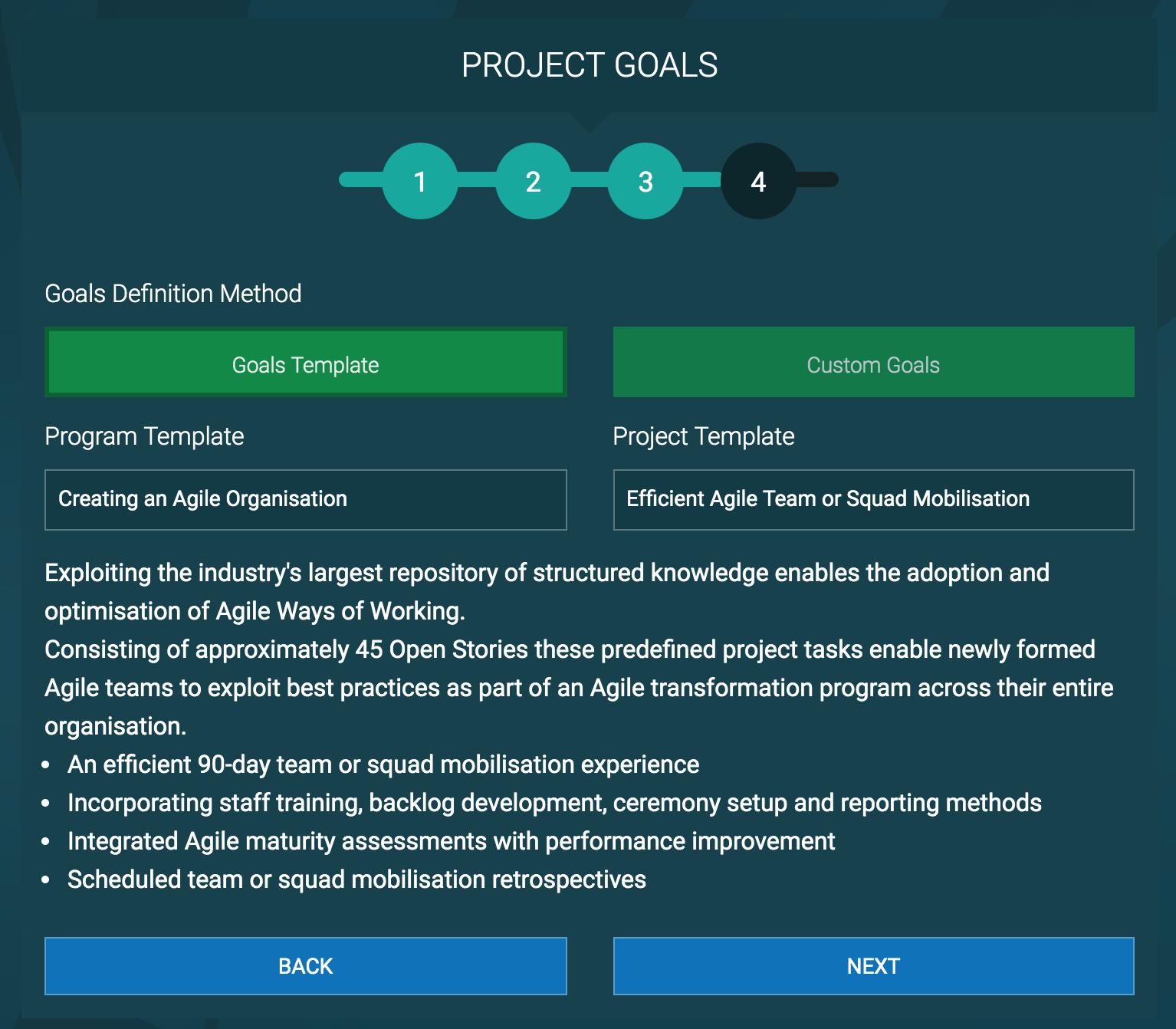 Program Template Goals