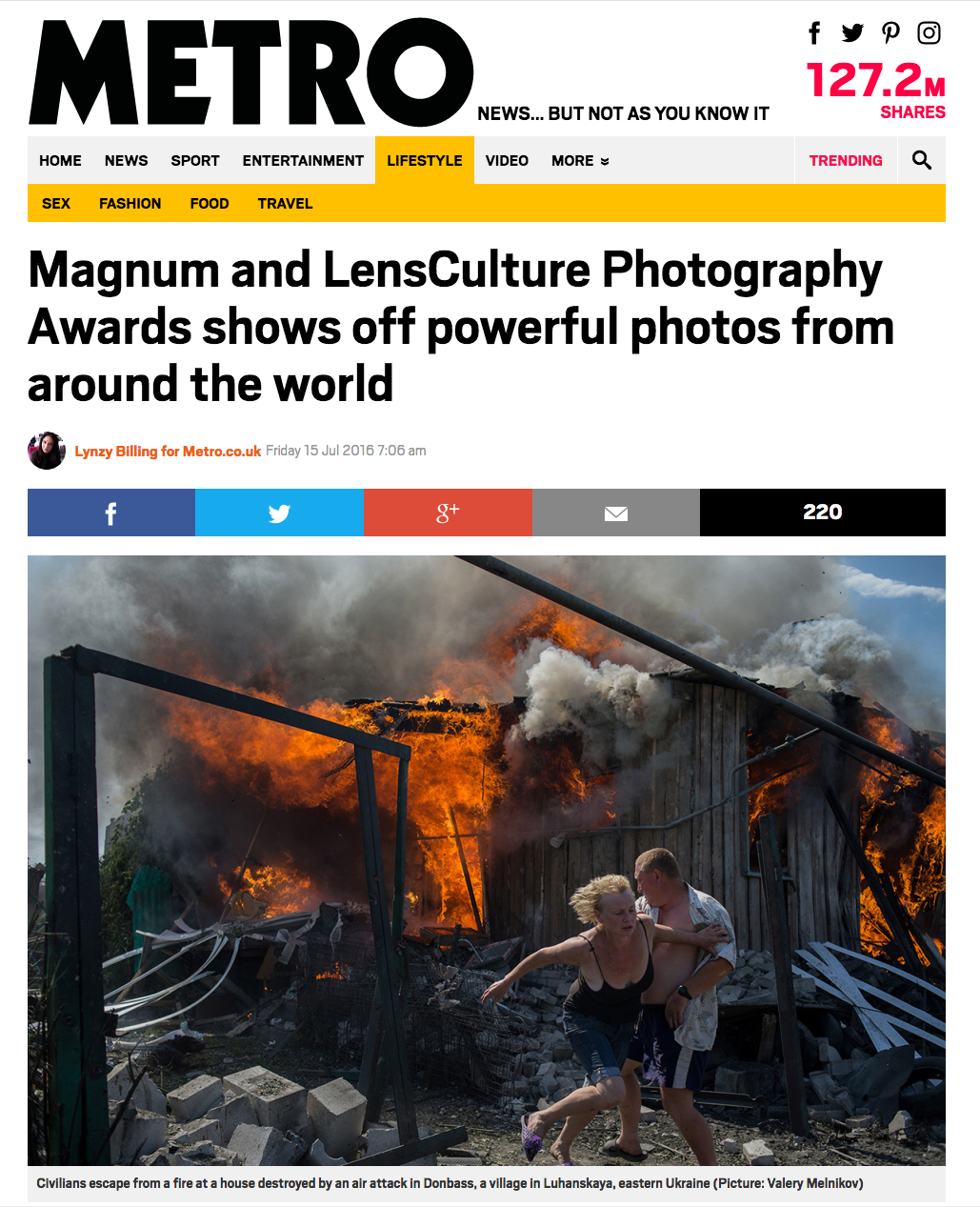Metro News Featured the Winners of the Magnum Awards 2016 -