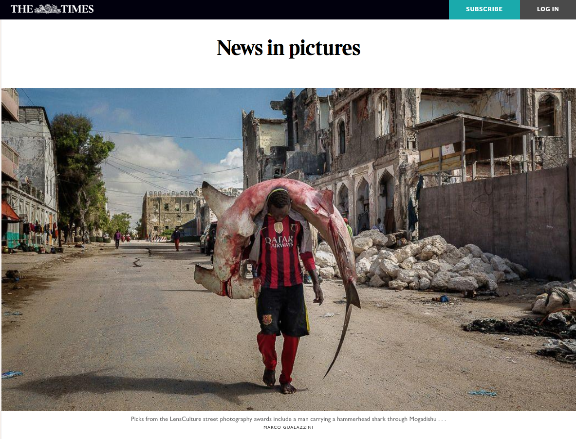 The Times: Selection of Street Photography Awards Winners Highlighted in Daily Feature -