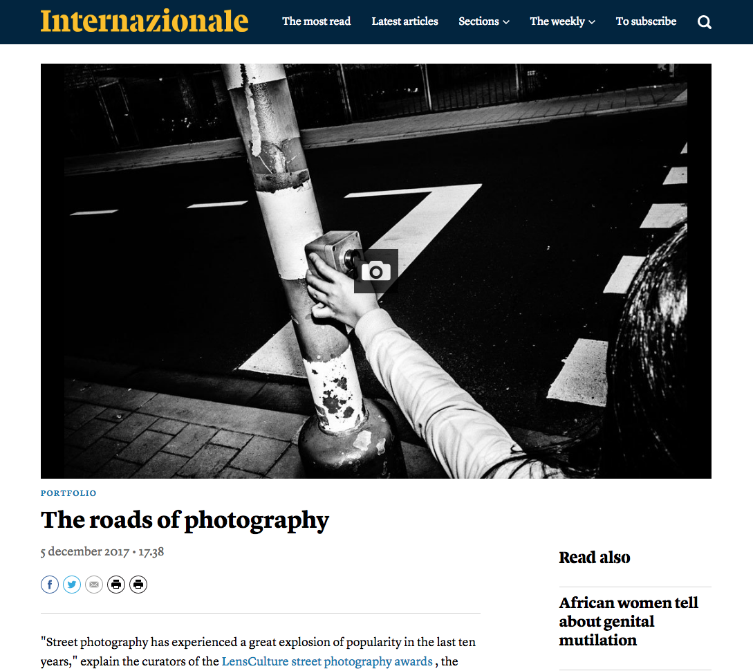 Street Photography Award-Winners Published in Italy's Internazionale -