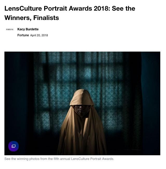 Portrait Award Winners 2018 Published in Yahoo -