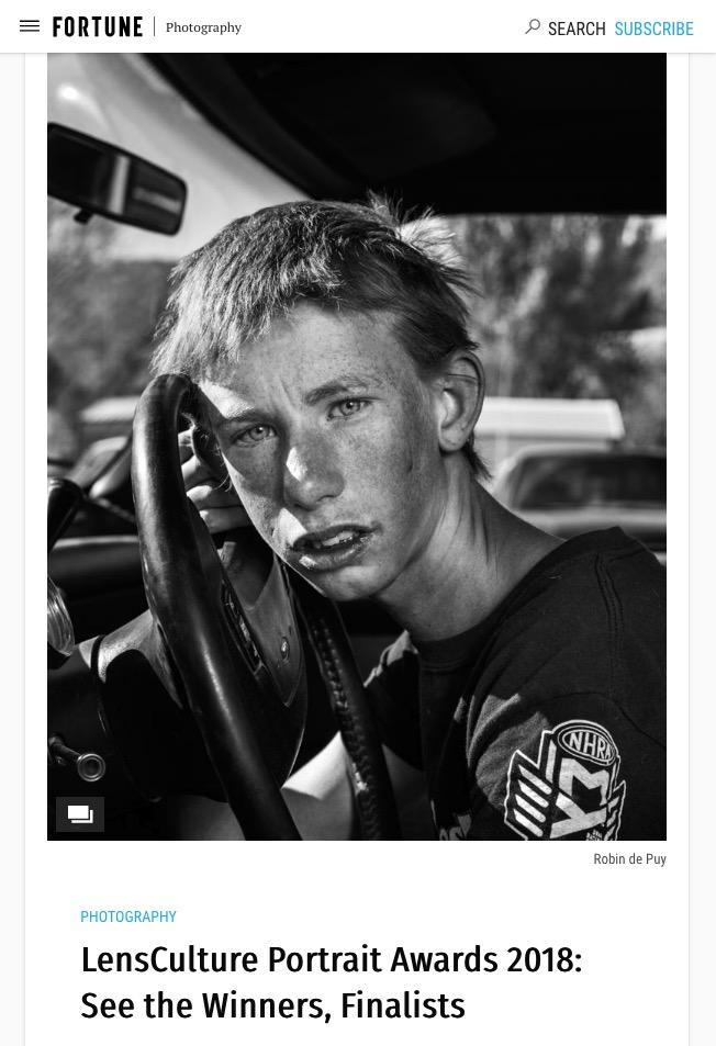 Portrait Award Winners Published in Fortune! -