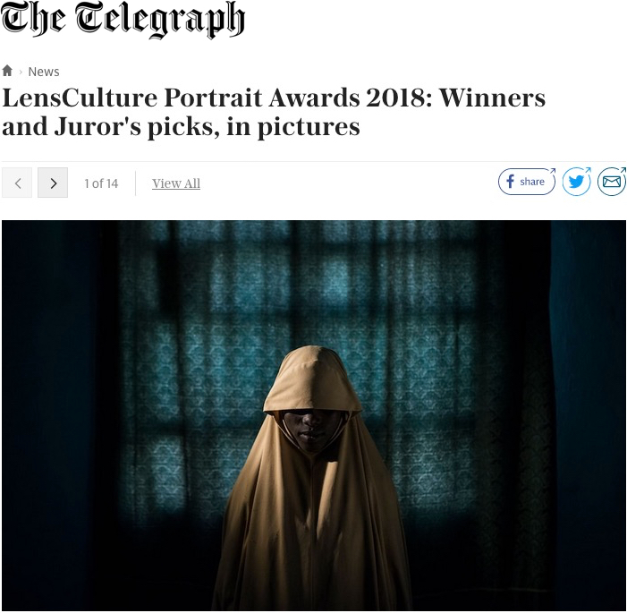 Selection of LensCulture Portrait Awards 2018 Published in The Telegraph  -