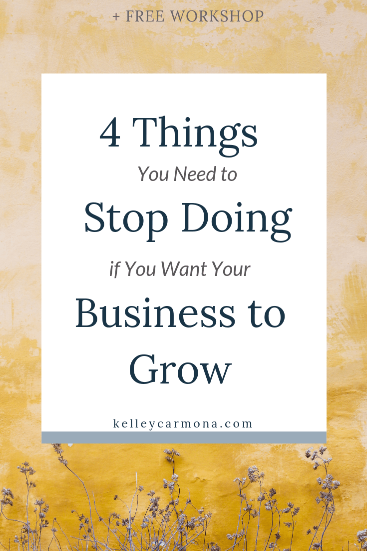 As a Productivity + Systems Strategist, I make it my business to show service-based business babes how to streamline their business to save time and ditch overwhelm.  That's why today I'm here to tell you all about the 4 things you need to stop doing if you want to grow your business (and what you should do instead)!