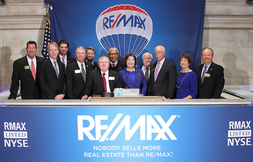 Opening Bell at the NYSE in October 2013. Dan Predovich with the rest of the Board and senior management of RE/MAX International.