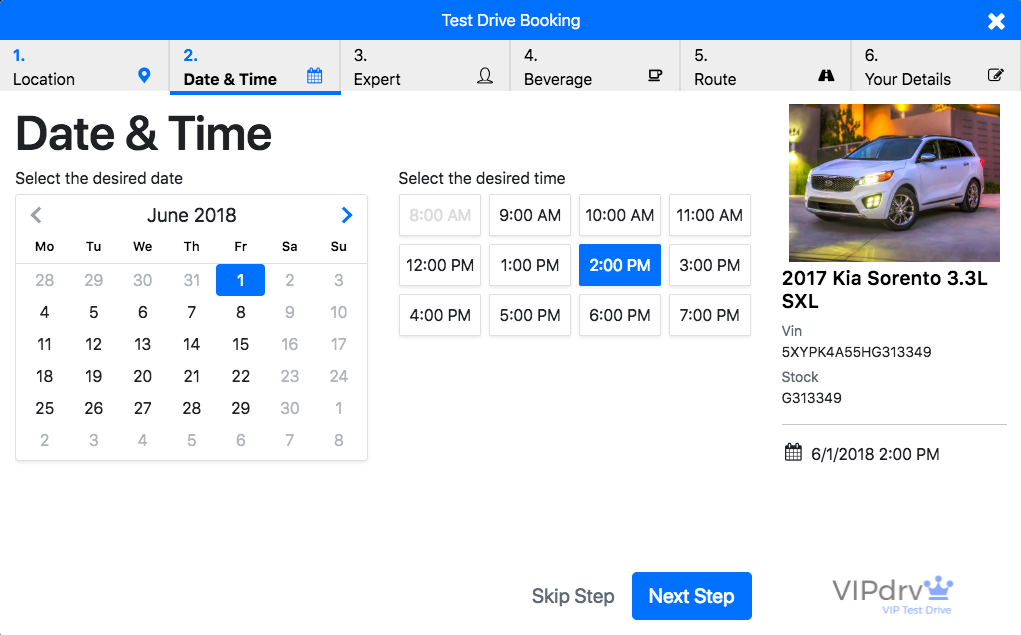 Set Day/Time - All dealer websites stop here. Watch how we take a boring lead form and create the best online experiences for scheduling test drives