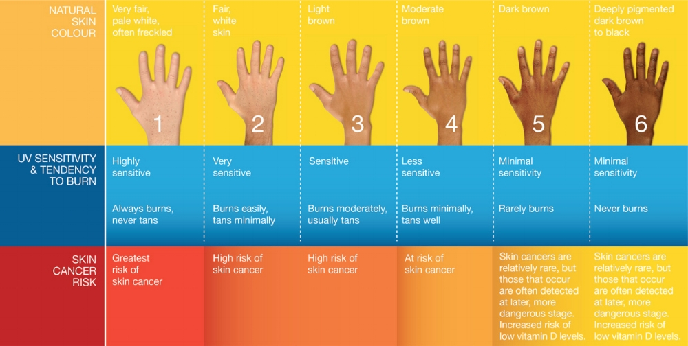 skin type chart