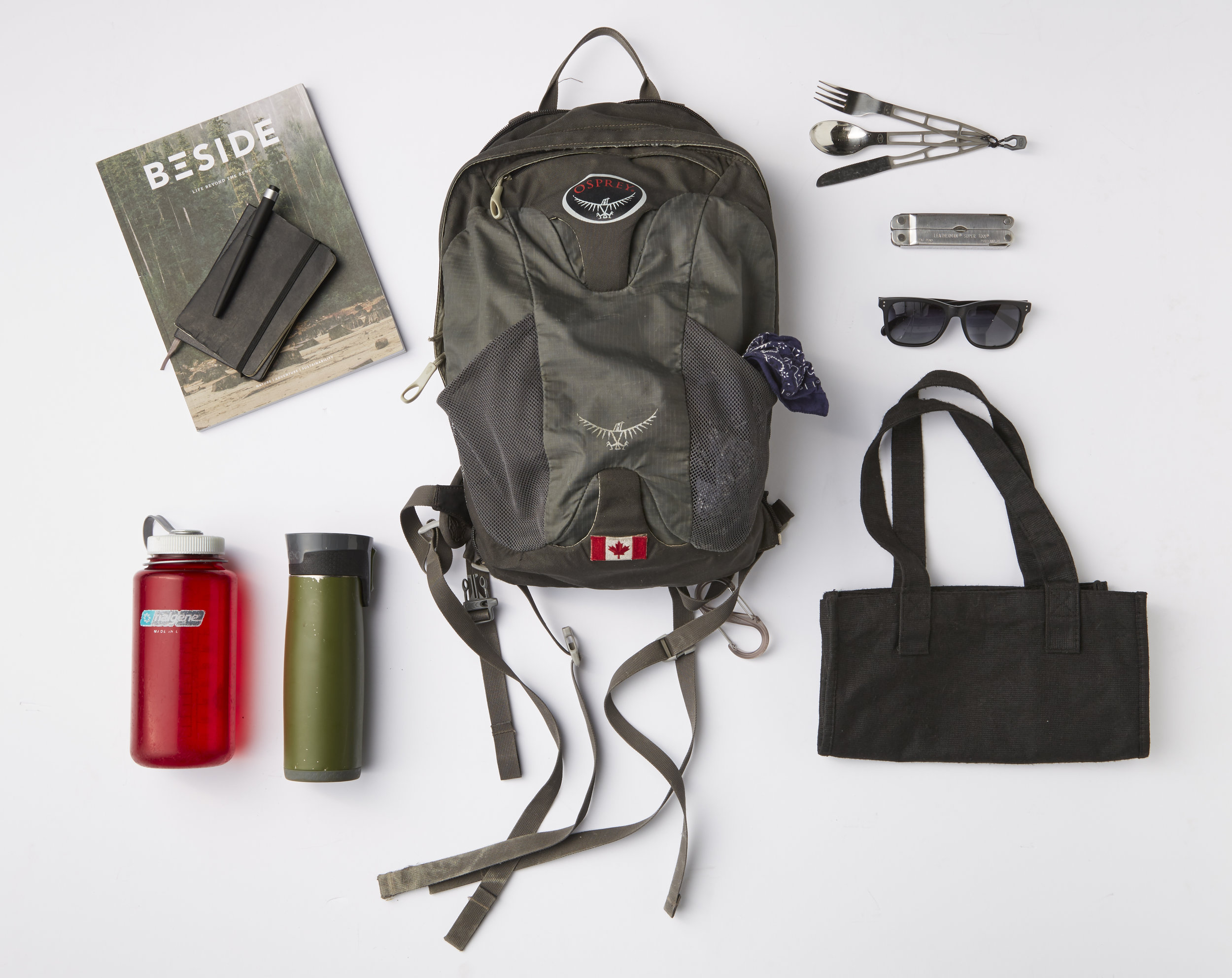 A general look at my daily 'kit'. Some items have been upgraded since.