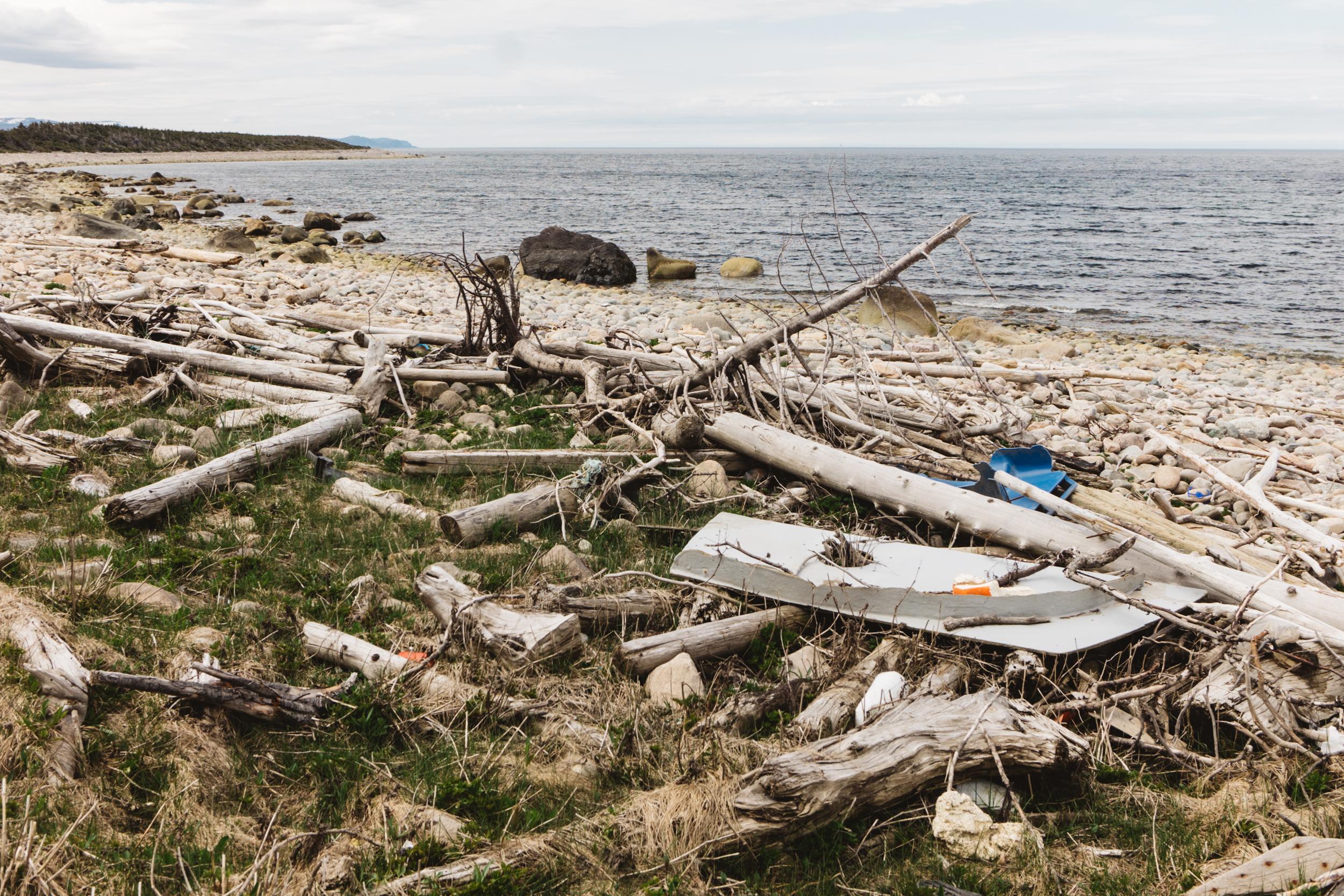 Gros Morne Shore Trash Wash Up