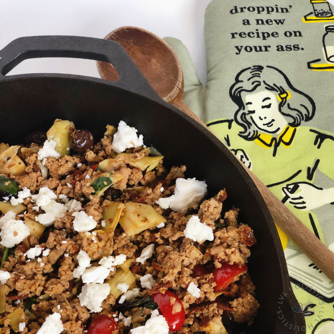 LVL Remix 1:3 Greek Skillet - Cook one main dish and turn it into 3 different meals throughout the week.