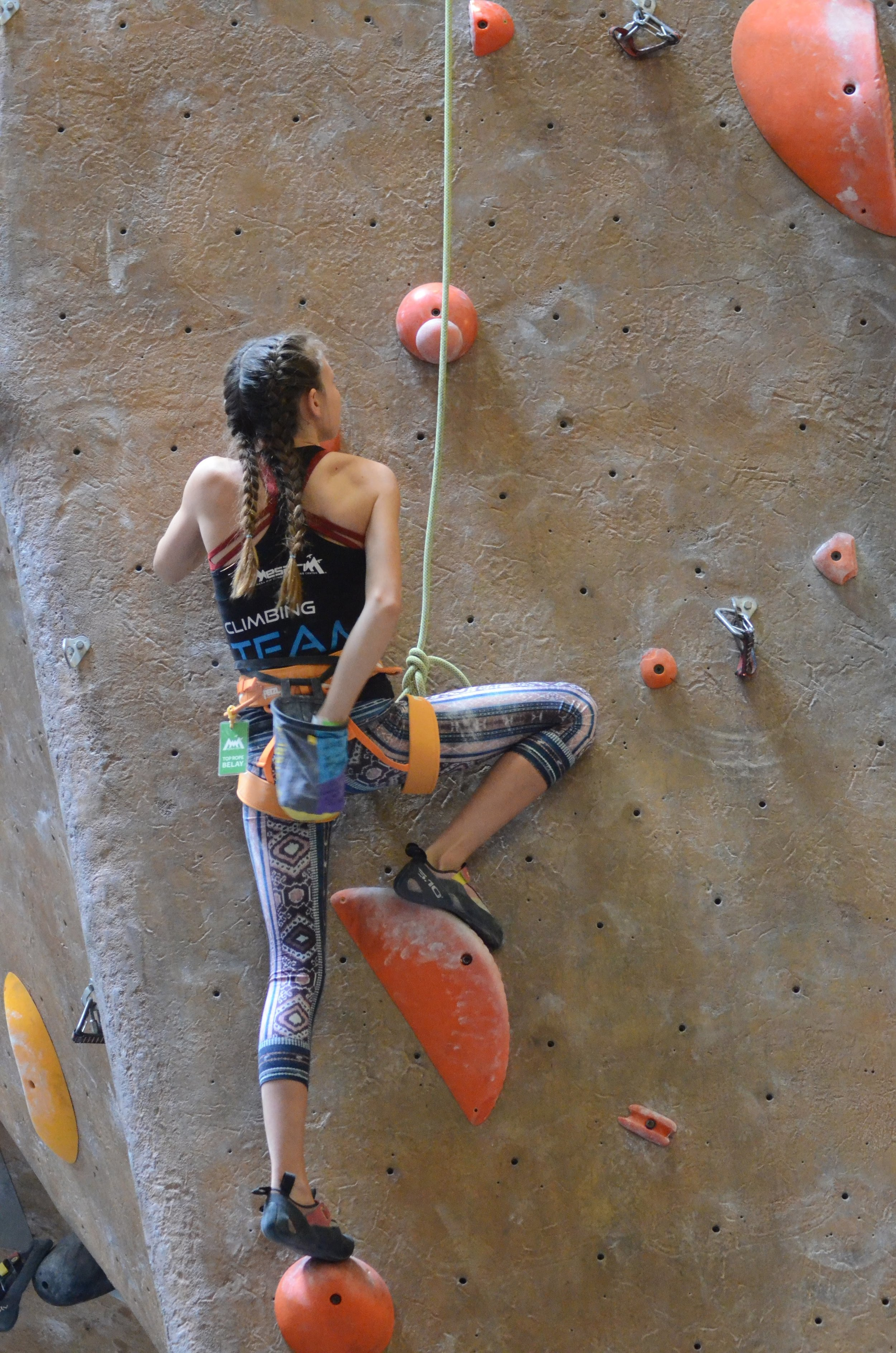 Lily, FYC. Coming off a bouldering season where she finished top ten in the nation in her Hiangles.