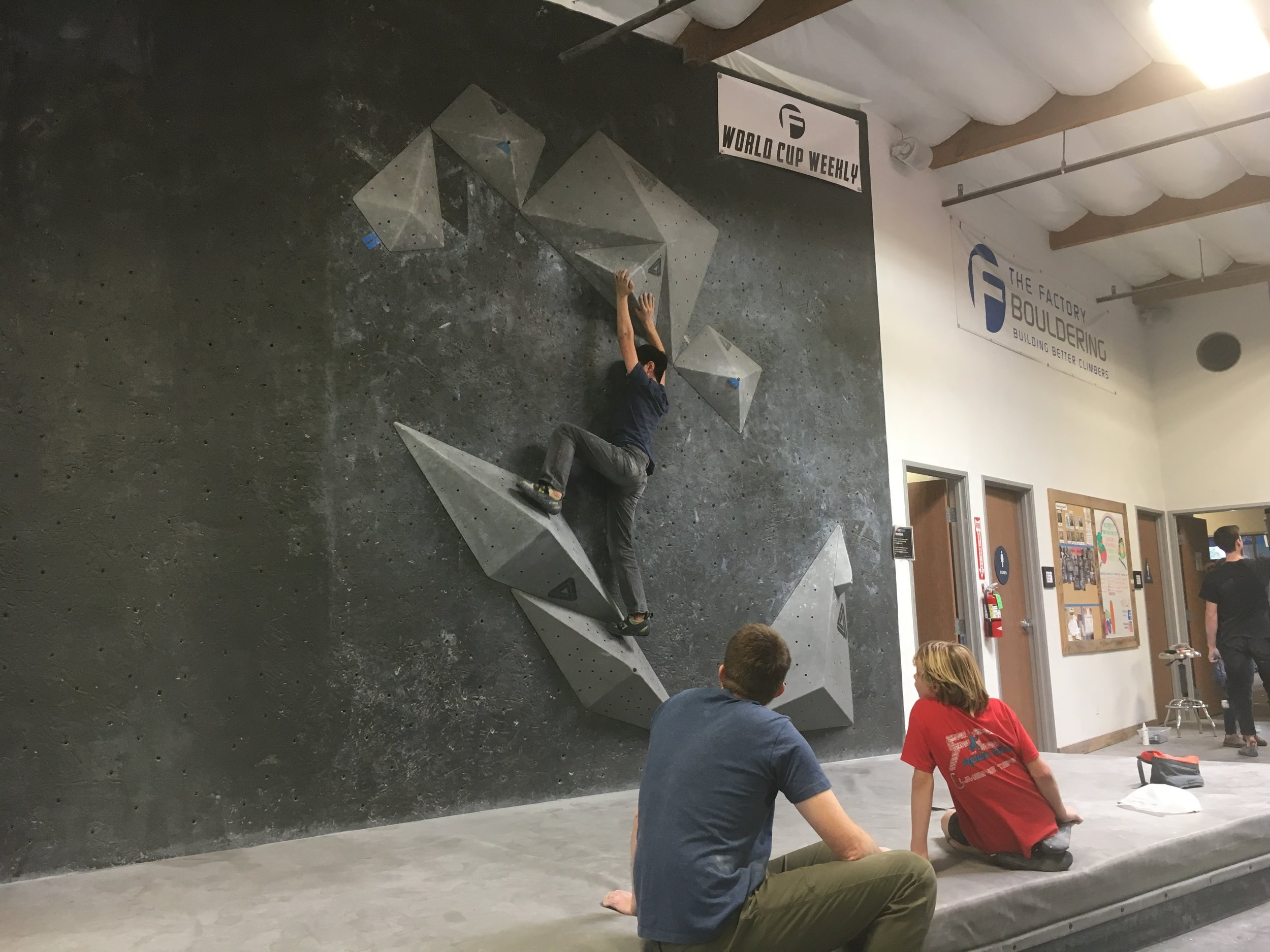 Climbing encourages problem solving with your friends.