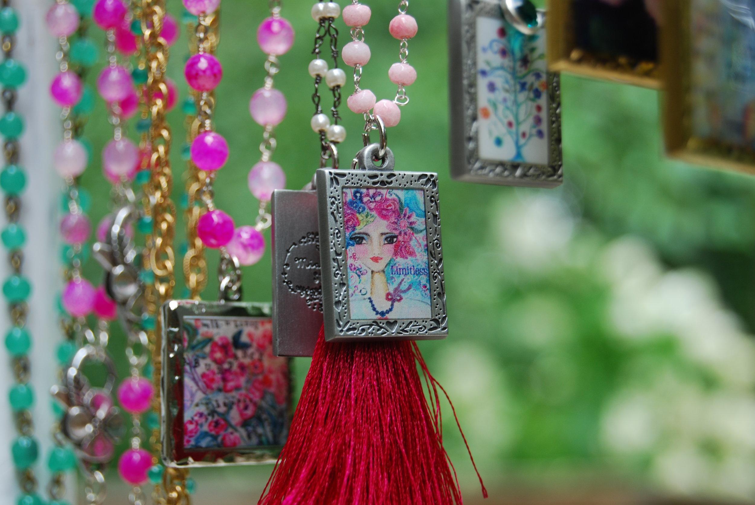 jewelry - Miniature prints on custom pendants - so fun