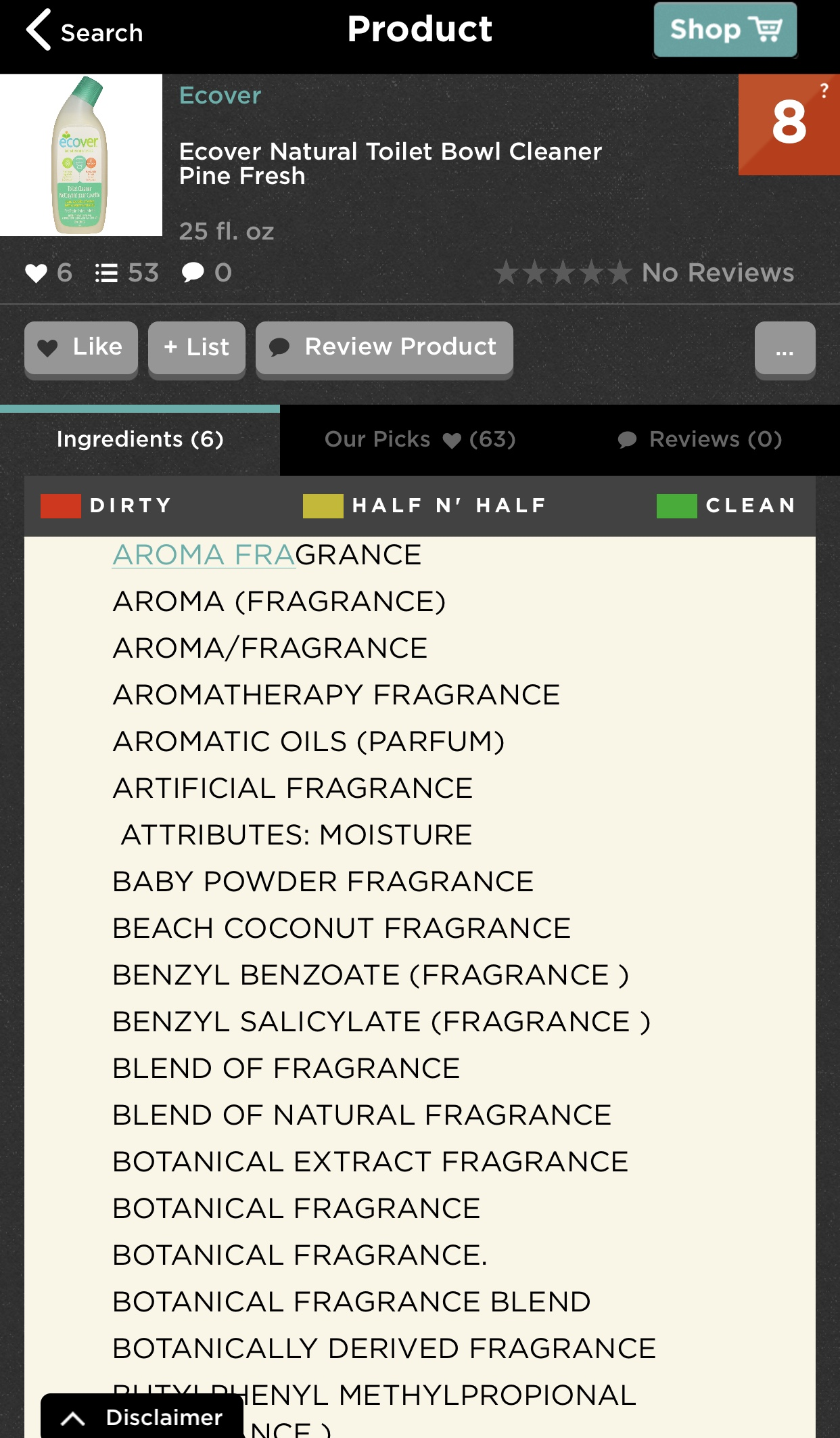 This is just SOME of the artificial fragrances contained in this product!