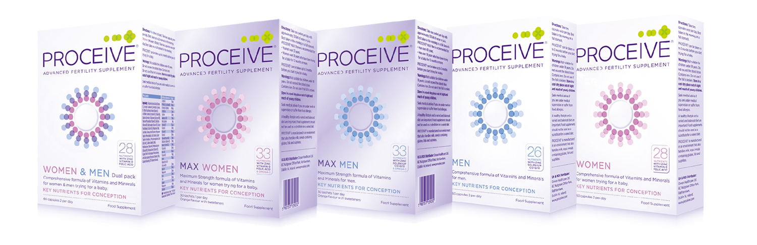 Range of Proceive Fertility Supplements for Men and Women