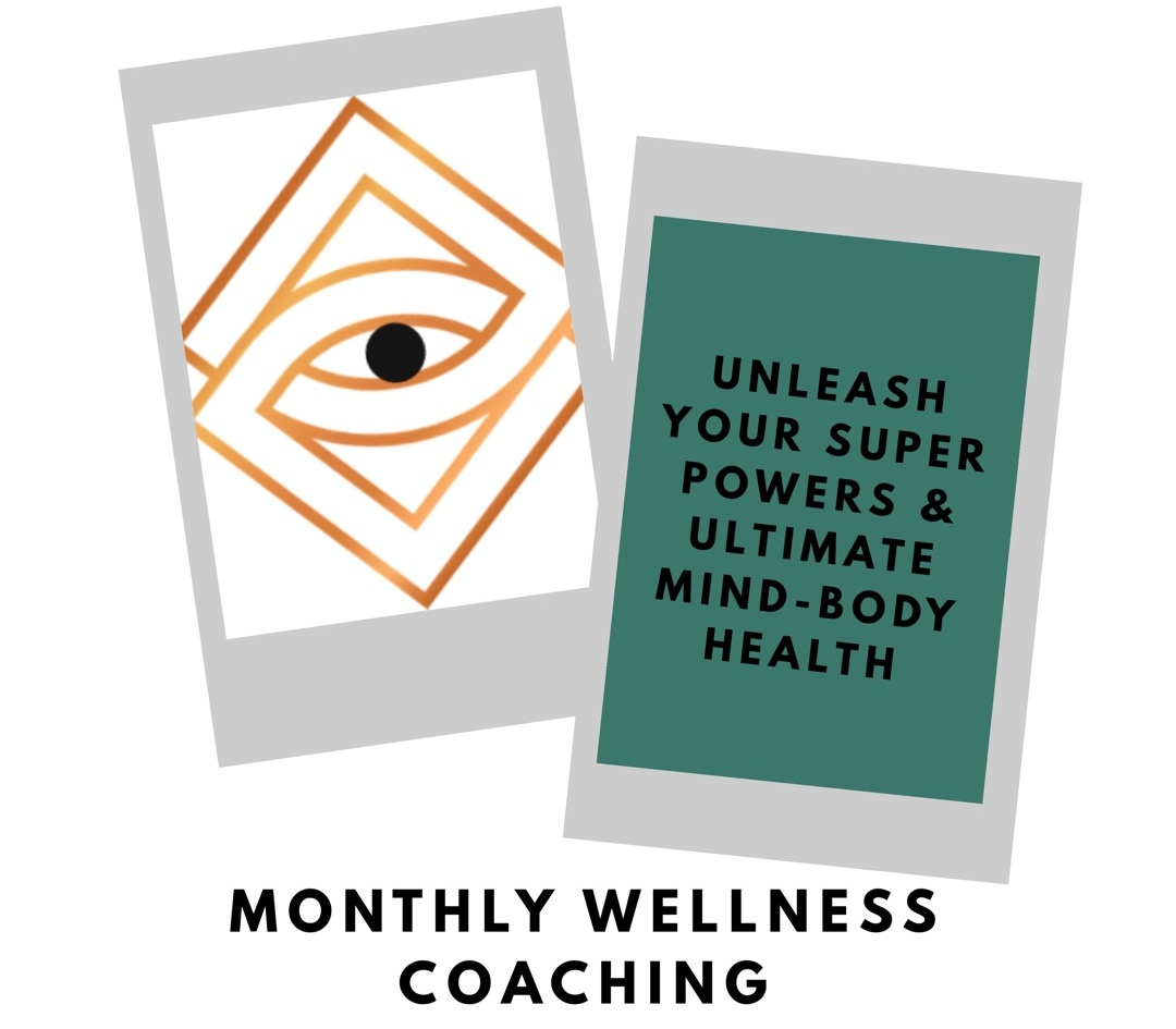 1:1 Wellness Coaching: Experience powerful energetic shifts in six key areas of wellness to heal your blocks & trauma, cultivate ultimate mind-body health & master your thought power. - 1) POWERFUL BRAIN 2) POWERFUL BODY 3) POWERFUL FOOD4) POWERFUL SLEEP 5) POWERFUL EMOTIONS 6) POWERFUL THOUGHTS