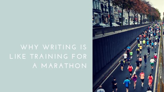 I talk about how writing a book is like training for a marathon