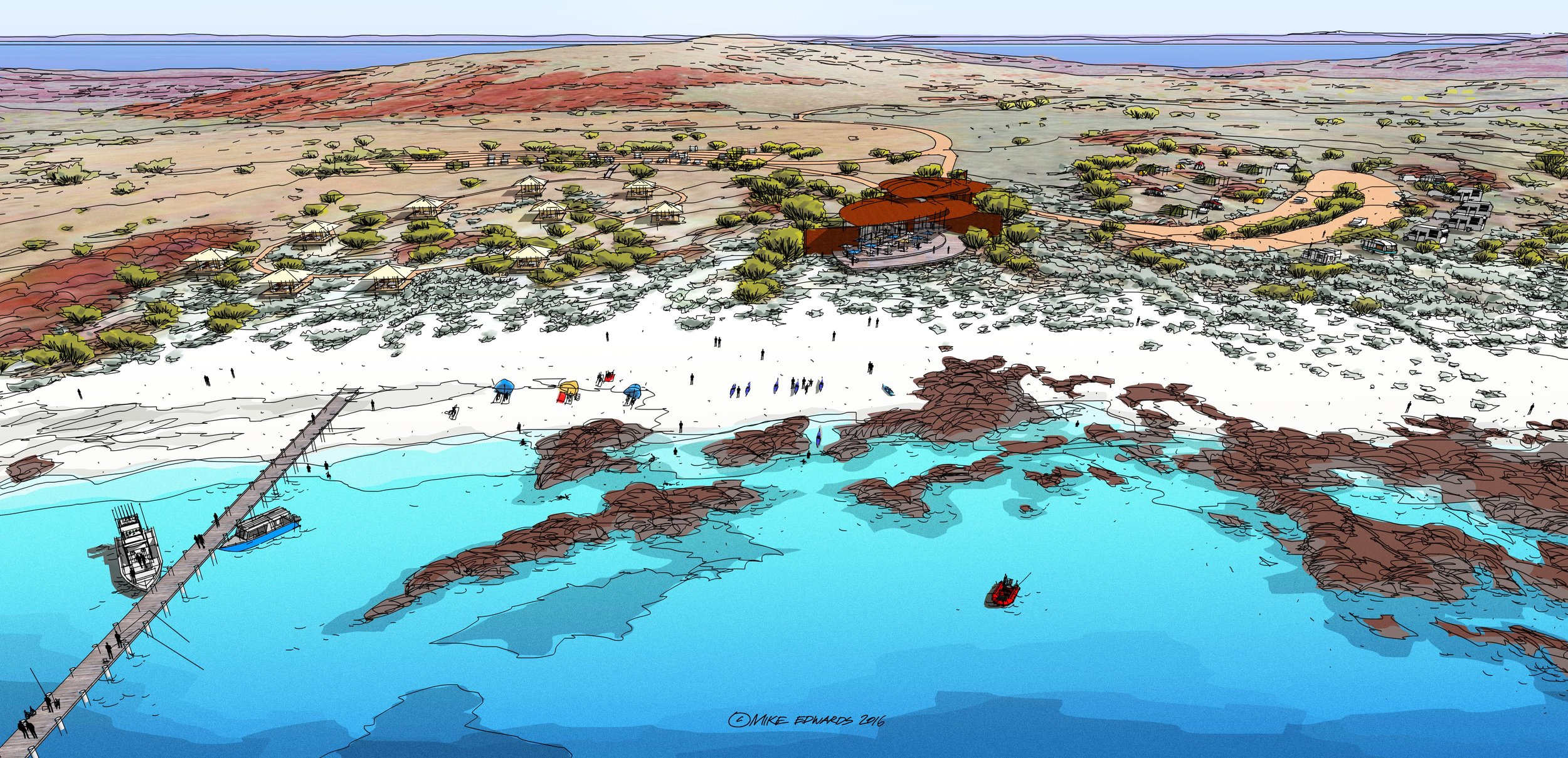 Visitor Centre - North-West WA - Concept Design by MIKE EDWARDS ARCHITECTURE