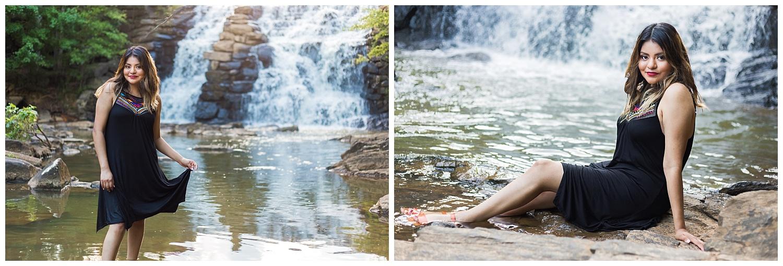 chewacla state park waterfall senior photos lauren beesley photography auburn alabama
