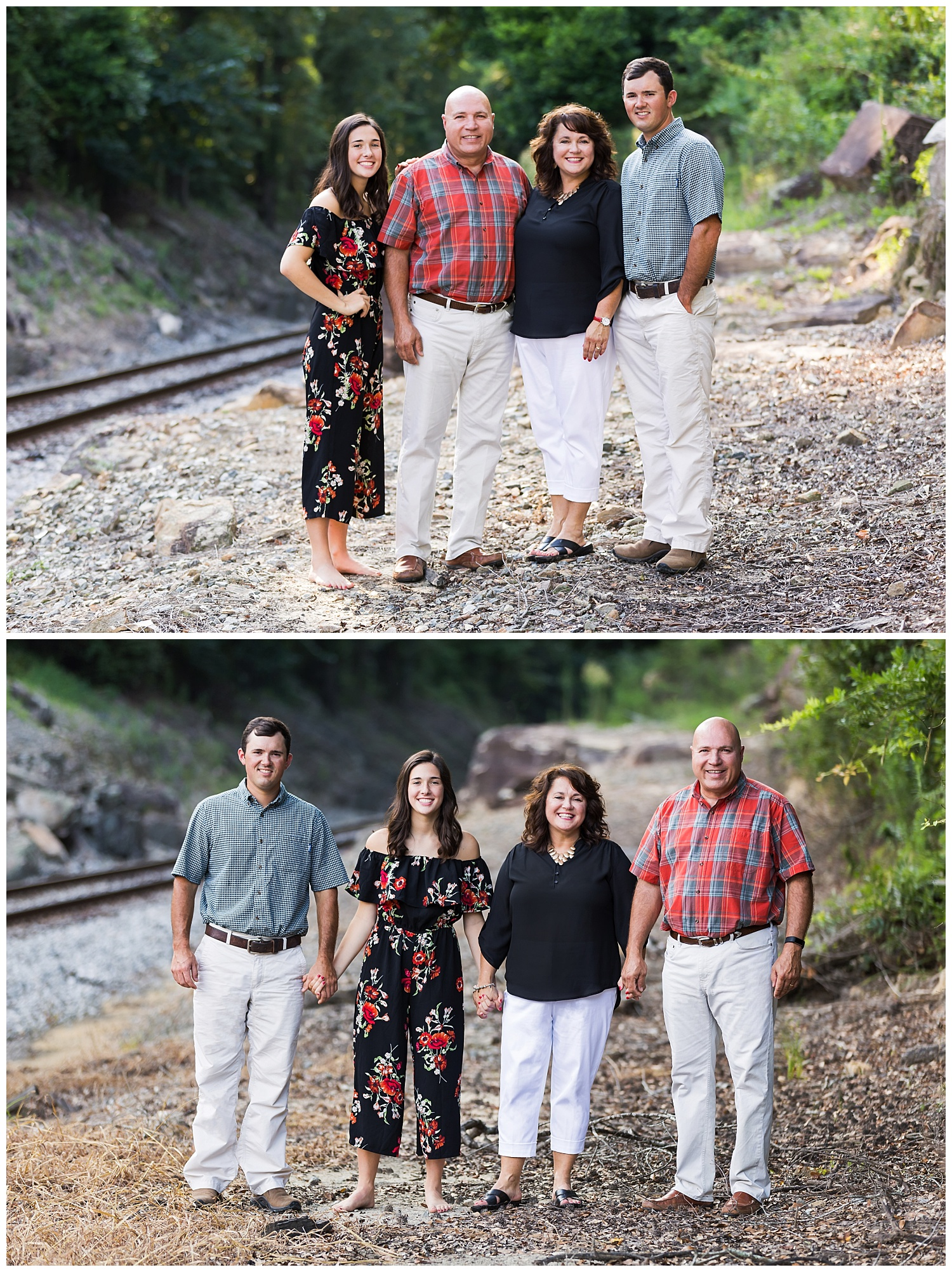 red and black family photos lauren beesley photography auburn alabama
