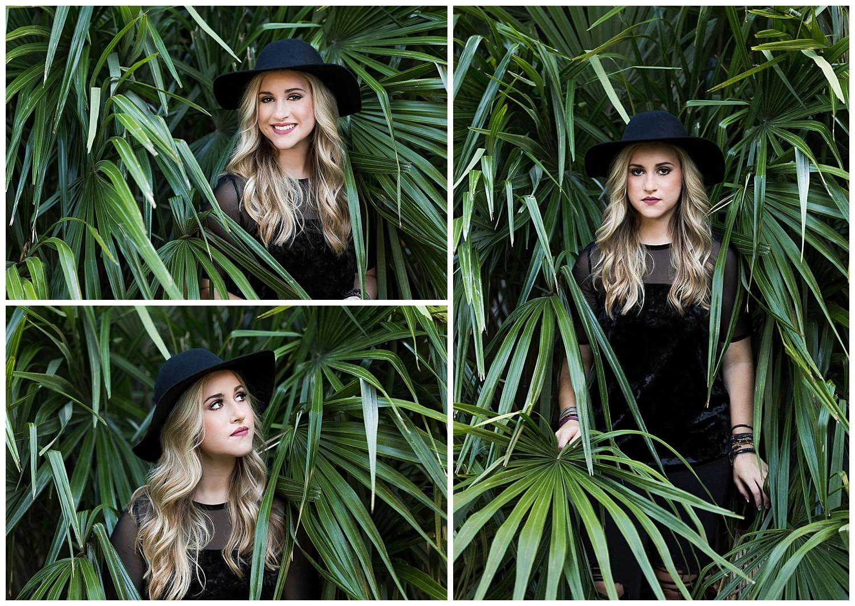 auburn alabama senior photos arboretum indie dark boho black felt hat