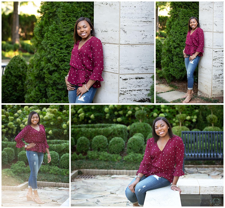gardens opelika high school senior portrait photographer