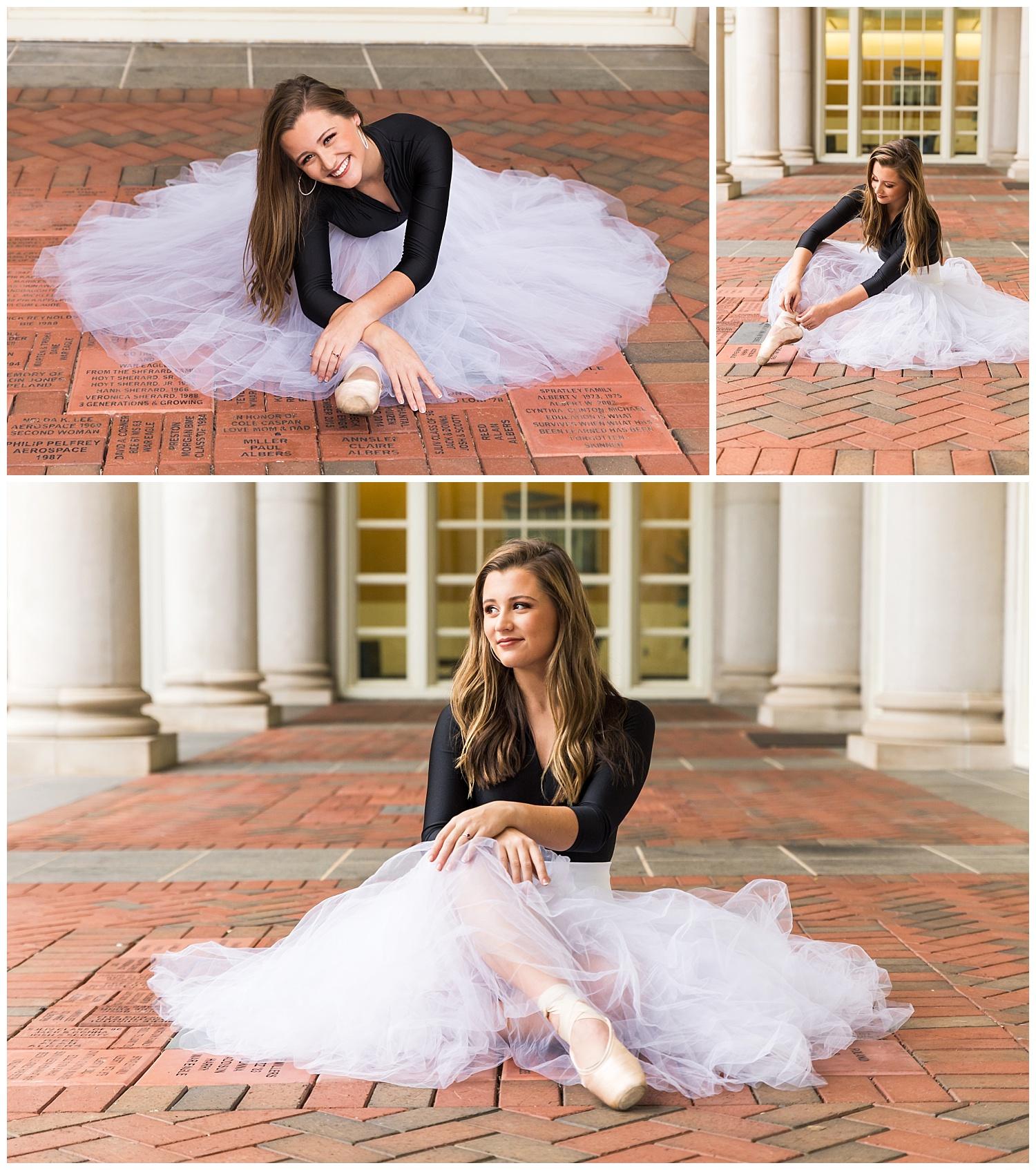 pointe ballet senior portraits dance photo session auburn alabama lauren beesley photography