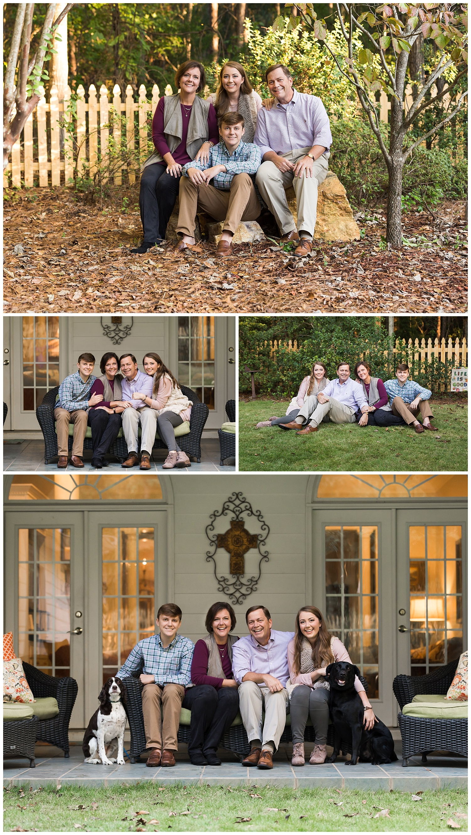 family photos at home with dogs lauren beesley photography auburn alabama