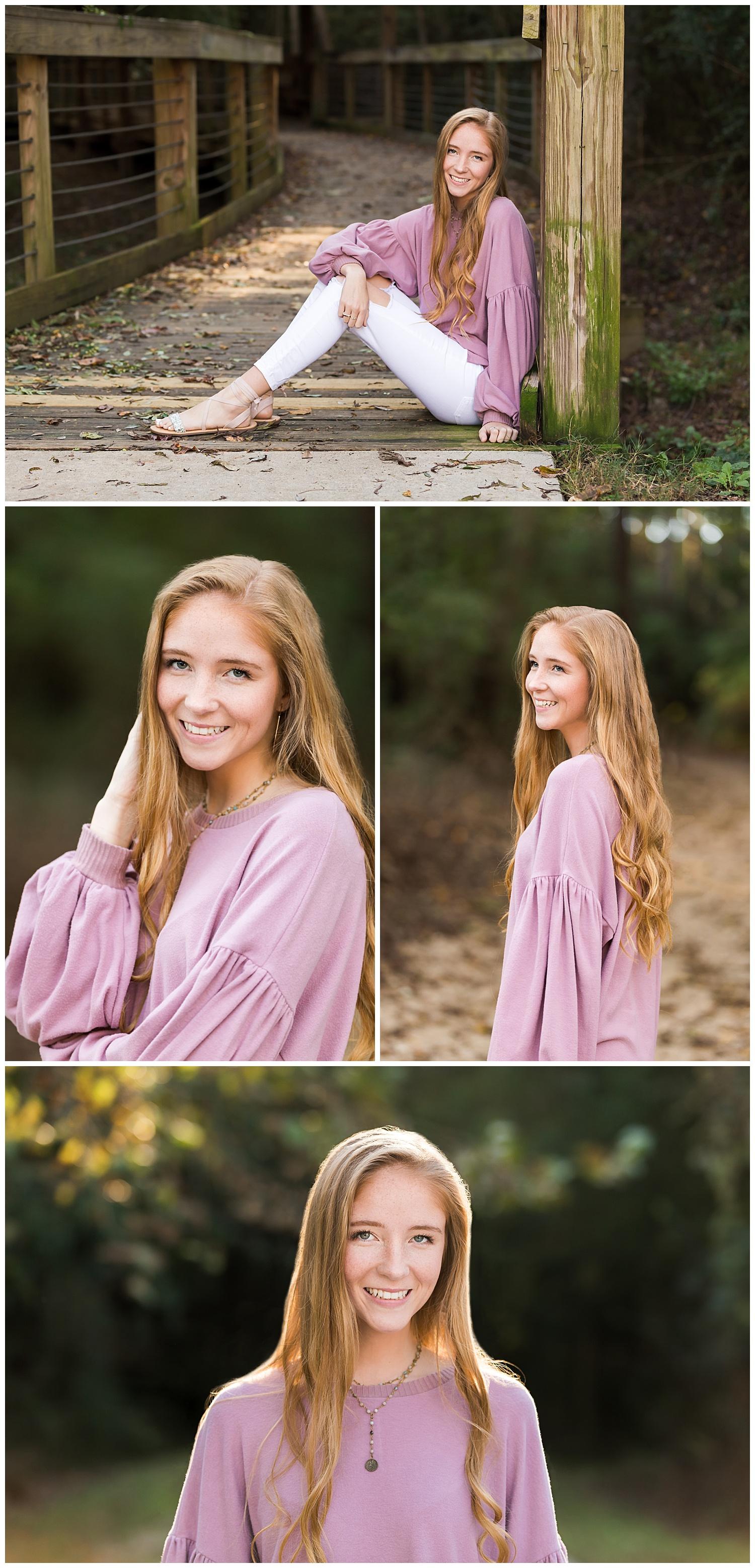 auburn al town creek senior portraits lbeesleyphoto pink sweater