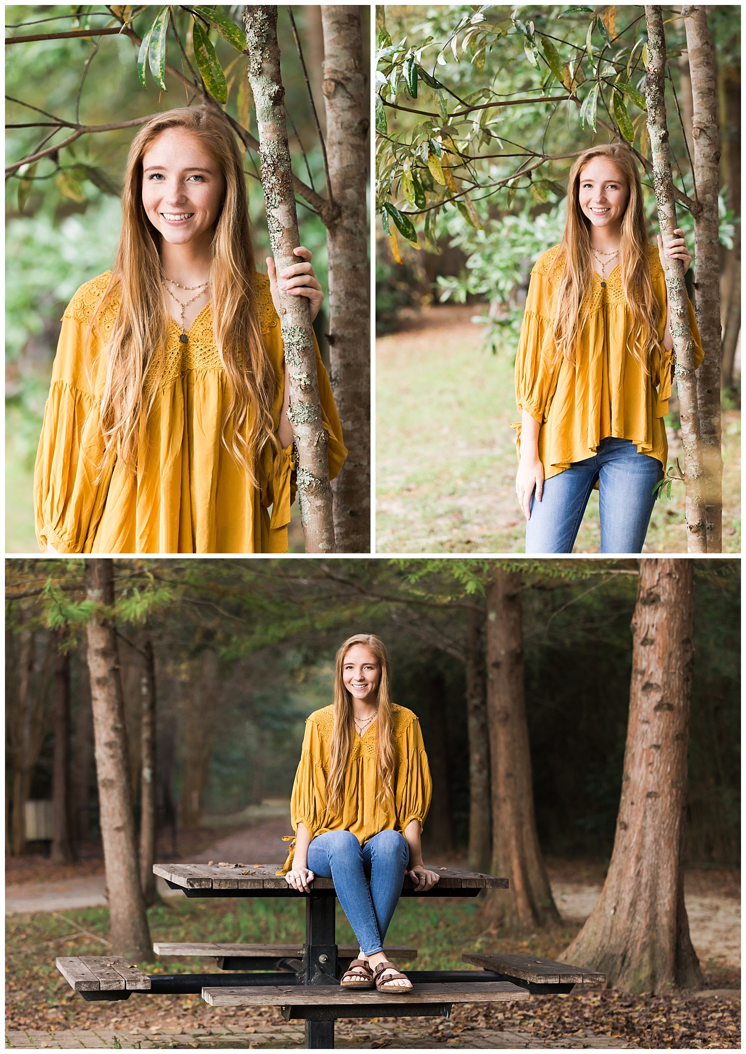 fall senior photos auburn al town creek mustard yellow lbeesleyphoto