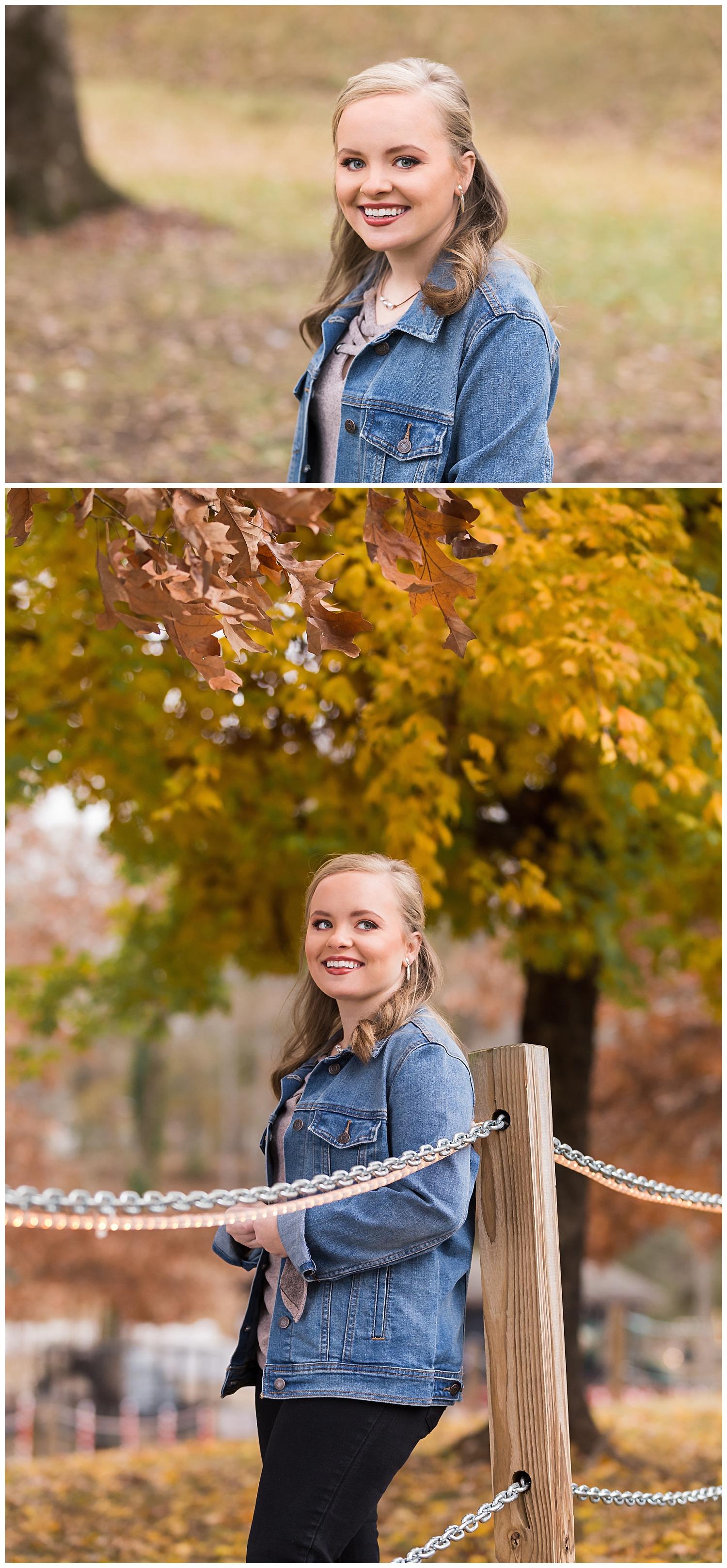 fall senior photos opelika alabama lbeesleyphoto jean jacket