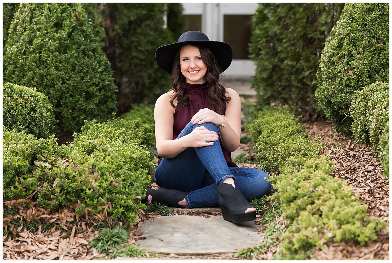 auburn art museum senior photos lauren beesley photography black felt hat