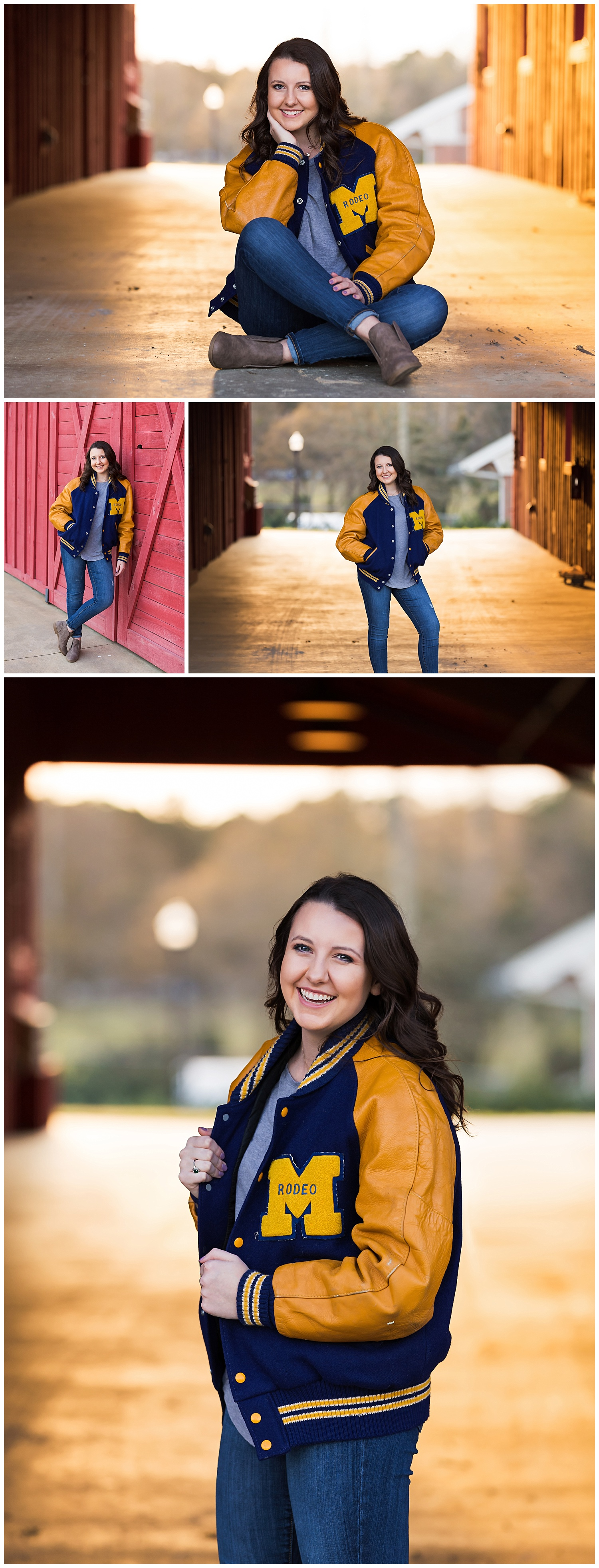 auburn university rodeo varisty jacket senior portraits lbeesleyphoto